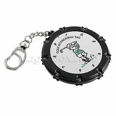 1pc Portable 18 Holes Golf Stroke Counter Score Keeper Scoring Tag With Keychain