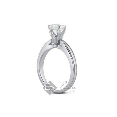 0.68ct H/SI2/Ideal Round Certified Diamond 14k Gold Cathedral Wedding Ring 5.15g