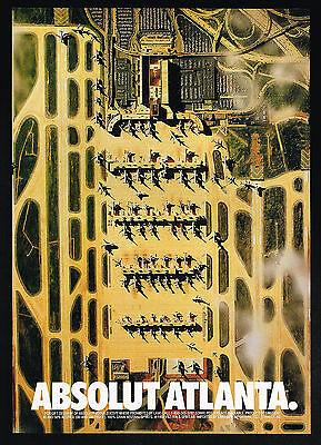 1992 Absolut Vodka Atlanta Airport Aerial View Vintage Print Ad
