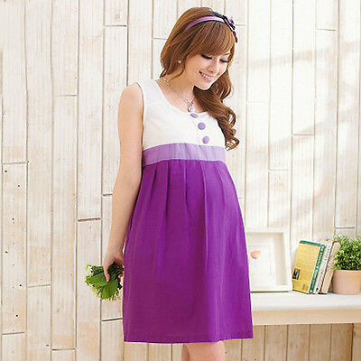 Pregnant Women Loose Tunic Dress Comfort Breathable Sundress Maternity Clothing
