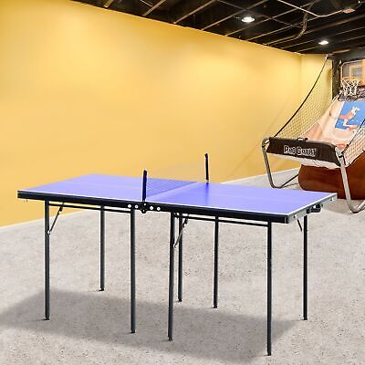Folding Mini Table Tennis Top Ping Pong Set Professional Net Games Sports Play