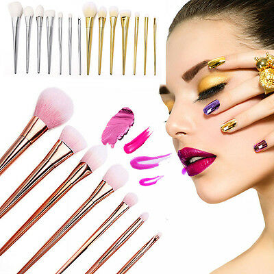 7pcs Pro Makeup Brushes Set Powder Foundation Eyeshadow Eyeliner Lip Brush Tool