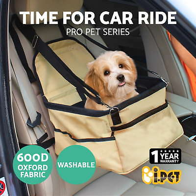 i.Pet Puppy Pet Car Carrier Dog Cat Booster Seat Portable Soft Cage Travel Bag