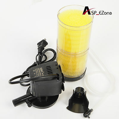 Submersible Aquarium Internal Pump & Filter with lighting Filtration Fish Tank
