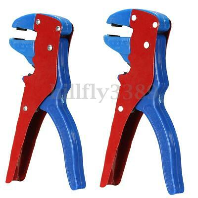 2x Automatic Wire Stripper Crimper Pliers Cable Cutter Electrical Tool Stripping