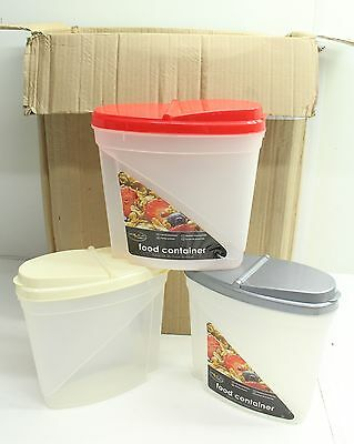 NEW Wholesale Lot 48 x Dry Food Dispenser Storage Containers - Free P&P