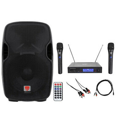 "Rockville Powered 15"" Karaoke System/Pro Machine 4 ipad/iphone/Android/Laptop/TV"
