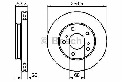 To Clear - New Genuine Bosch - Front - Brake Discs (X2) - 0986478485