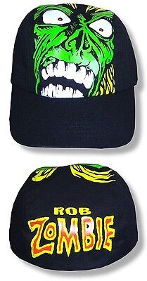 "ROB ZOMBIE HAT/CAP ""Ghoul"" Black Authentic Licensed NEW"