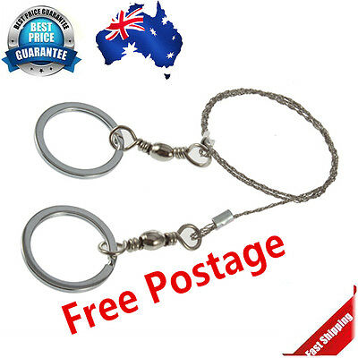 Stainless Steel Wire Pocket Saw Emergency Camping Hunting Travel Survive Tool KB