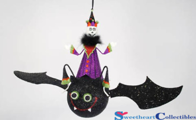 Glitterville Halloween Trick or Treater On Bat Groovy