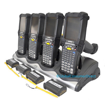 LOT of 4x Refurb Motorola MC9090G MC9090-GF0HBGGA2WR CE5 Barcode Scanner +CRADLE