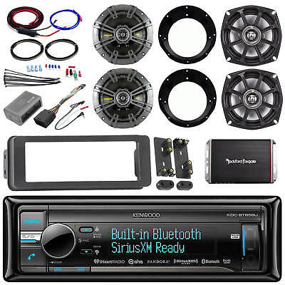 "98-2013 Install FLHT USB CD Adapter Kit,Kicker 6.5""and 5.25"" Speakers,Amplifier"