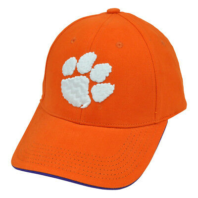 NCAA S&L Chino Cotton Cap Hat Clemson Tigers  Adjustable Construct Curved