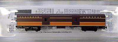 Z Scale - MICRO-TRAINS LINE 553 00 020 ILLINOIS CENTRAL 70' Lightweight Baggage