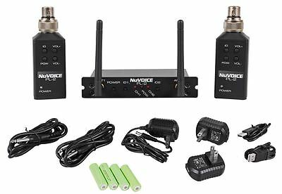 VocoPro PL-2 NuVoice Wireless Plug-on Transmitter Turns Wired Mics to Wireless
