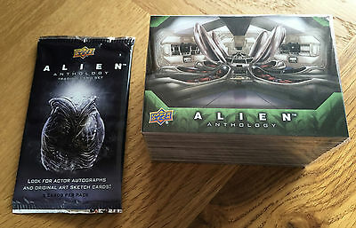 2016 Upper Deck Alien Anthology 100 Card Base Set + Wrapper