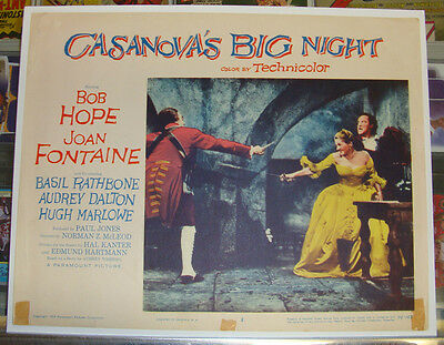 CASANOVA'S BIG NIGHT (1954) 11 X 14 Lobby Card #3 * BOB HOPE * JOAN FONTAINE *