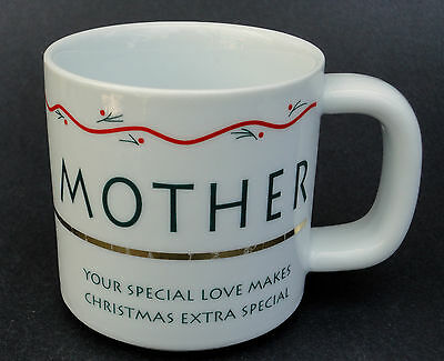 Coffee Mug Russ Berrie Mother Your Love Makes Christmas Extra Special 12oz