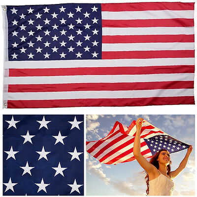 3'x 5' FT American Flag U.S.A U.S. United States Stripes Stars Brass Grommets NS