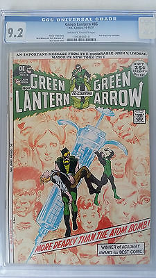 Green Lantern #86 CGC 9.2 NM-  Anti-Drug Story  Neal Adams Cover