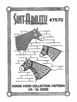 Horse Riding Suitability  Set Of Horse Hoods Sewing  Patterns New 7570