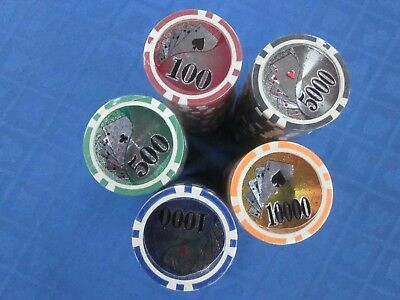 """NEW 500 Las Vegas Poker Chipset Chips """"Choose any Combo"""" w/ LEATHER CASE"""