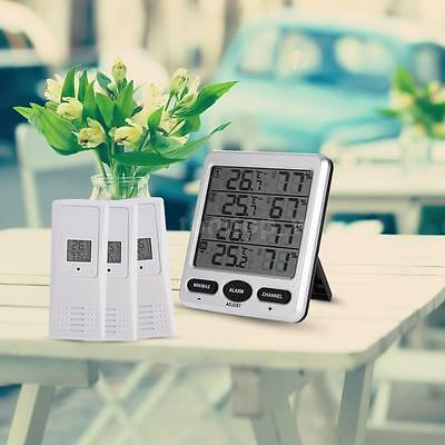 LCD 8-CH 3 Remote Sensors Wireless Indoor/Outdoor Thermometer Hygrometer W7U2