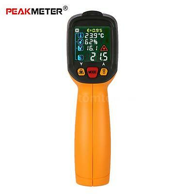 Digital Infrared IR Thermometer K Type Thermocouple Adjustable Emissivity A8T0