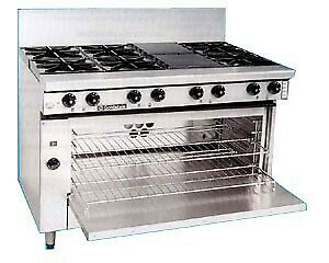 Goldstein Ranges - Gas 8 Burner - 711Mm High Speed Pure Convection Oven Pfc-8-28