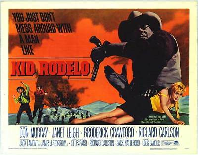 KID RODELO original 1966 22x28 movie poster LOUIS L'AMOUR/JANET LEIGH/DON MURRAY