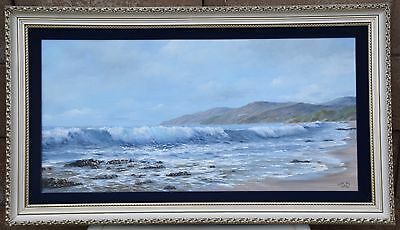 Pismo Beach California by Clyde Owes Seascape Original Oil Painting 15x30