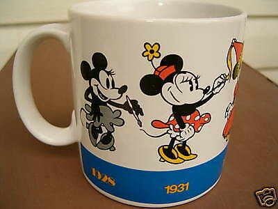 Coffee Mug Minnie Mouse Drawing Styles 1928 -90 for Disney by Applause Vintage