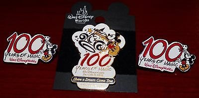 Walt Disney 100 Years Of Magic October 2001 Pin Lot Of 3 Mickey Mouse