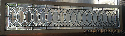 "Beautiful Antique Chicago Beveled Glass Transom Window 74"" by 18"""