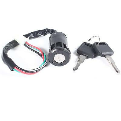 Black Universal Motorcycle Ignition Switch Lock Key Motocycle Accessories Parts