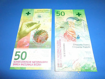 Switzerland New 2016 50 Francs Banknote Just Relased Uncirculated