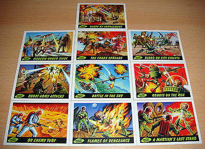 "TOPPS 2012 Mars Attacks! Heritage ""Deleted Scenes"" 10 Card Set"