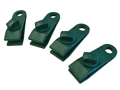 FAITHFULL RE-USEABLE TARPAULIN / TARP EYELETS CLIP - Pack of 4 Clips