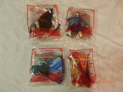 The Last Airbender #'s 1 - 4 (Red) McDonald's Happy Meal Toys