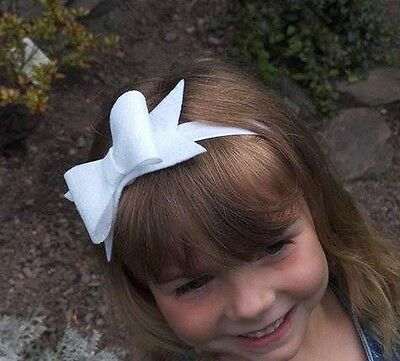 -:- White Glitter Bow Headband -:- Preemie - Adult Sizes - More Colours/Styles..