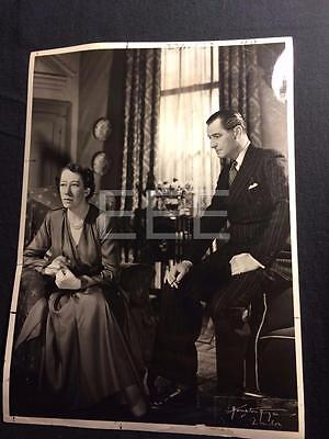 1950 Flora Robson Anthony Ireland Black Chiffon Vintage Theatre Photo 145A