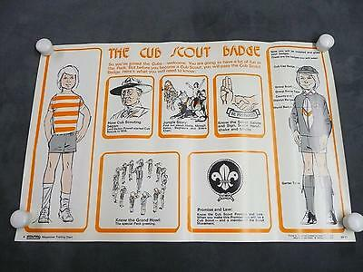 Scouting Magazine Training Chart Poster The Cub Scout Badge boy collectible