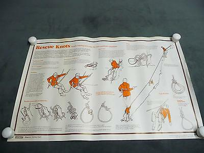 Scouting Magazine Training Chart Poster Rescue Knots boy scouts collectible