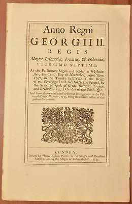 1754 Act of Parliament Regulation Reform of Prison System King George II