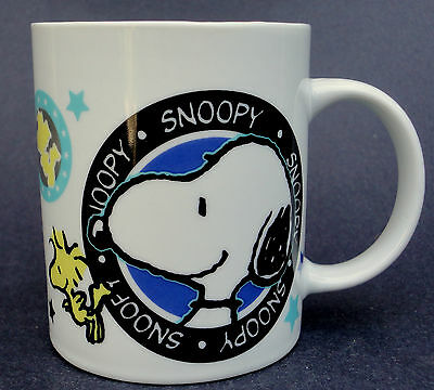 Coffee Mug Snoopy & Woodstock Everwin HK Peanuts United Features Syndicate 10oz