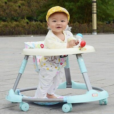 New Baby First Steps Walker Toddler Play Activity Safety Seat Anti-Rollover