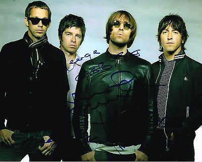 Oasis Fully Signed Autographed 10 x 8 Colour Glossy Picture - Liam Gallagher