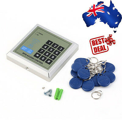 Electronic RFID Proximity Entry Door Lock Access Control System + 10 Key Fobs KB
