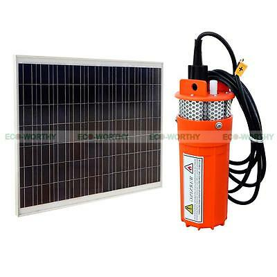 250W PV Solar Panel with 24V Solar Power Fountain Pool Water Pump for Watering